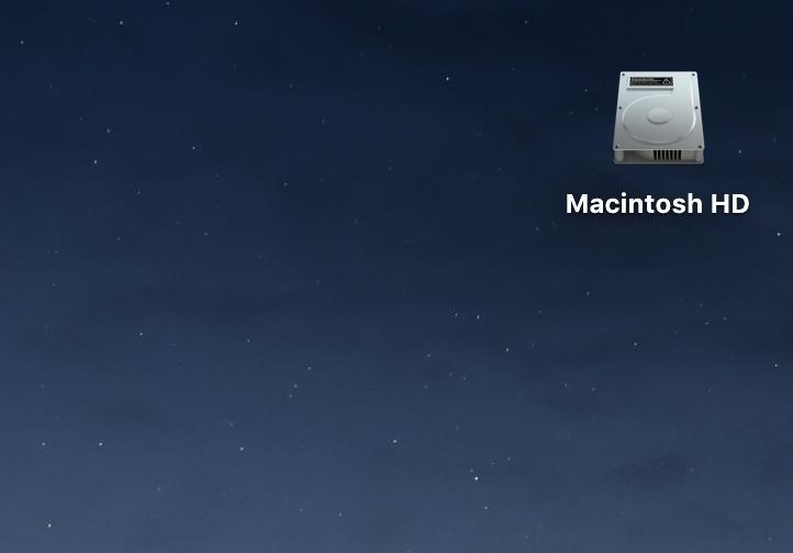 Macintosh HDが表示