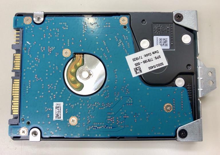 15-bw001AUのHDDマウンタ