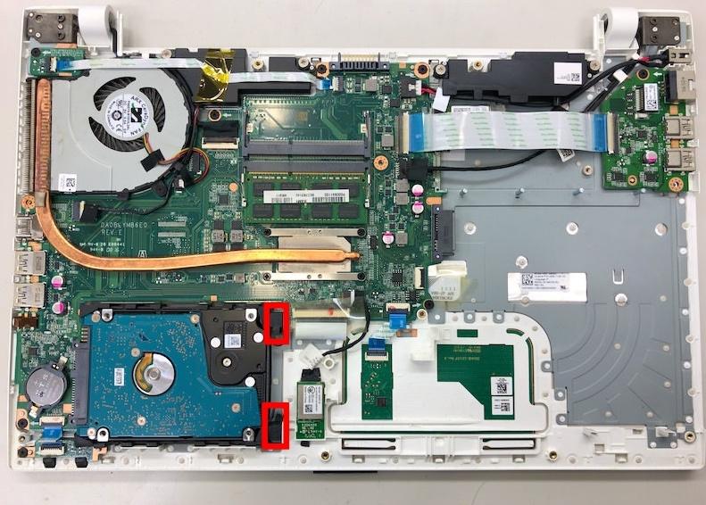 T75/UのHDDを外す