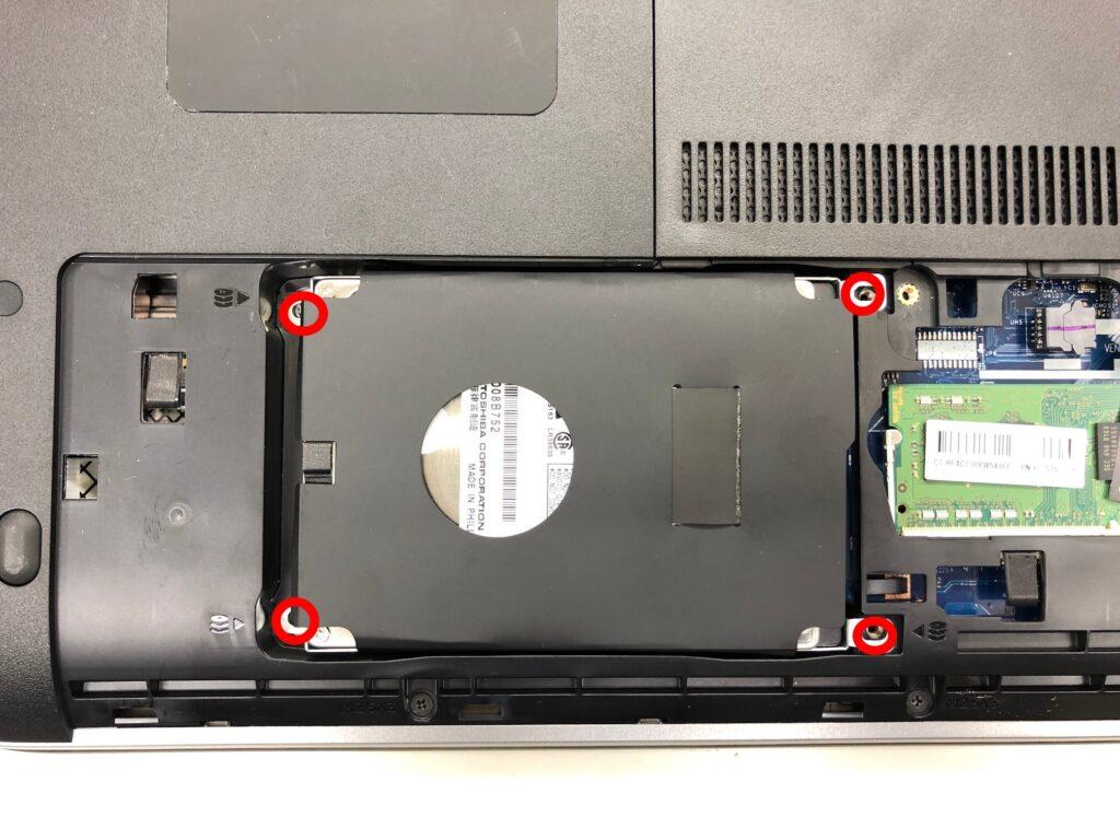 HP ProBook 450 G2のHDDネジを外す
