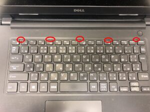 Vostro 14 3468のキーボードを外す