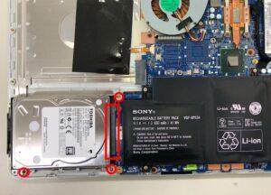 SVF14A19CJSのHDDを交換